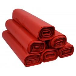 Worki 60l LDPE 50szt czerwone