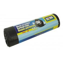 Worki RAZDWA 60l LDPE 10szt czarne