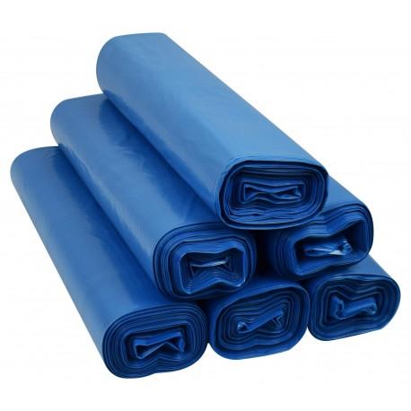 Worki 60l LDPE 50szt niebieskie