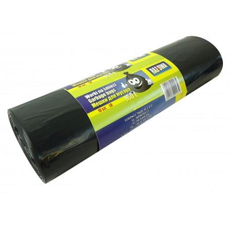 Worki RAZDWA 160l LDPE 10szt czarne