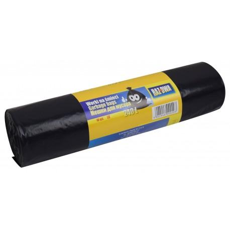Worki RAZDWA 240l 110x140 LDPE 10szt czarne
