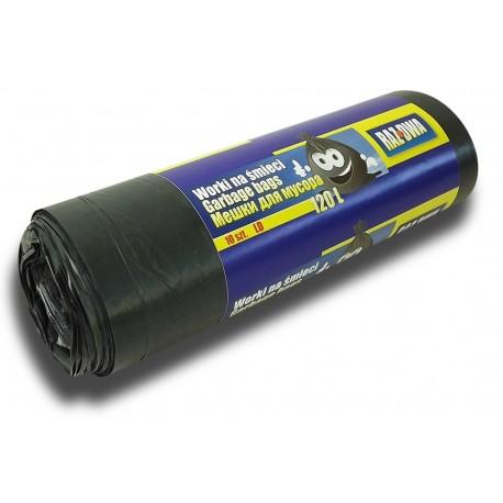 Worki RAZDWA 120l LDPE 10szt czarne