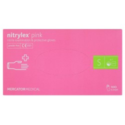 Rękawice nitrylowe Nitrylex PINK S 100szt.