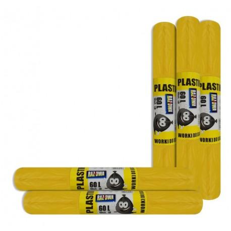 Worki do segregacji RAZDWA 60l LD 10szt żółte