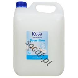 Mydło w płynie antybak. ROSA 5l białe sensitive