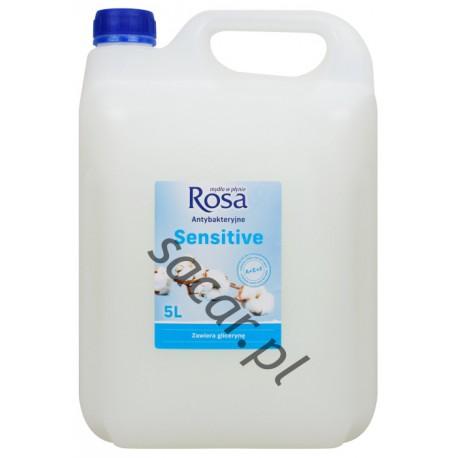 Mydło w płynie ROSA 5l białe sensitive