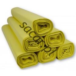 Worki 120l LDPE 25szt żółte