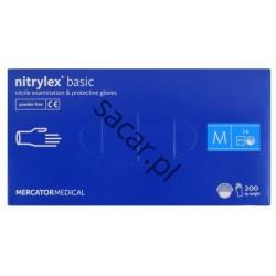 Rękawice nitrylowe niebieskie M 200szt