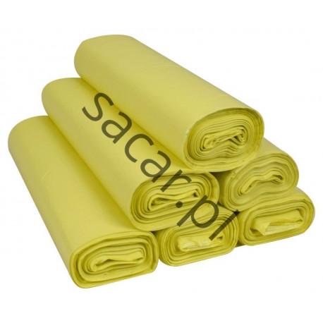 Worki 35l LDPE 50szt żółte