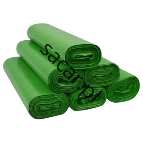 Worki 35l LDPE 50szt zielone