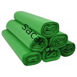 Worki 120l LDPE 25szt zielone