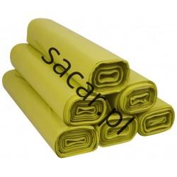 Worki 60l LDPE 50szt żółte