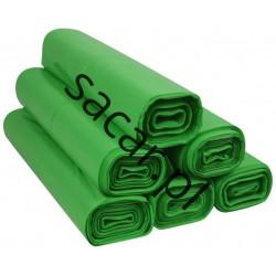 Worki 60l LDPE 50szt zielone