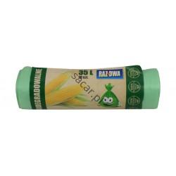 Worki ECO biodegradowalne 35l 20szt zielone
