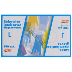 Rękawice lateksowe L 100szt.