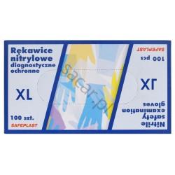 Rękawice nitrylowe niebieskie XL 100szt