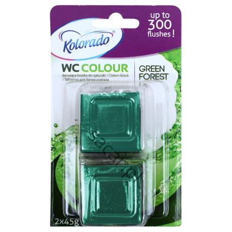 Kostka Kolorado WC Colour zielona 2x45g