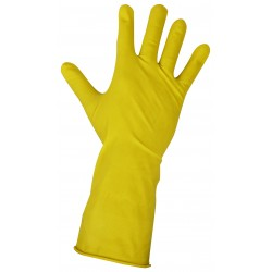 Rękawice gumowe gospodarcze L