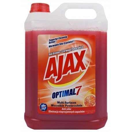 AJAX płyn 5L Optimal7 czerwona pomarańcza