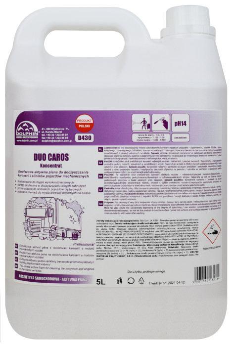 Alkaliczny dwufazowy koncentrat do mycia karoserii Dolphin Duo Caros 5l