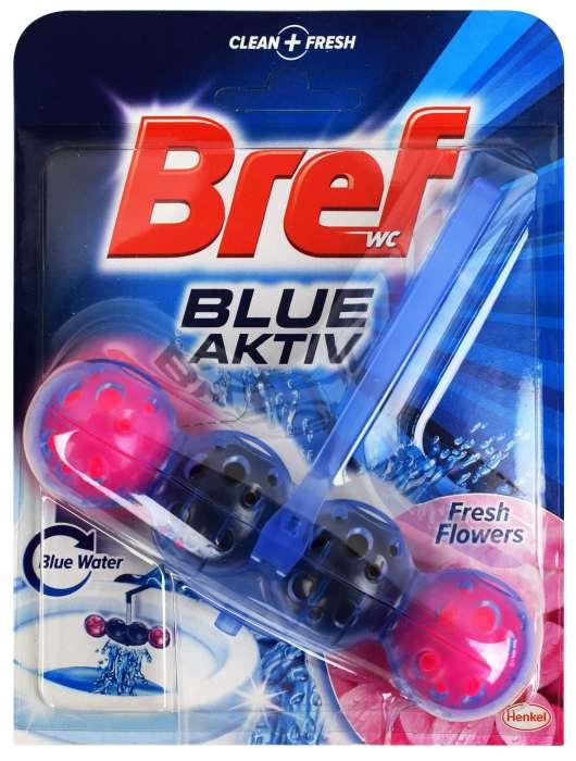 Kostka toaletowa Bref Blue aktiv fresh flowers