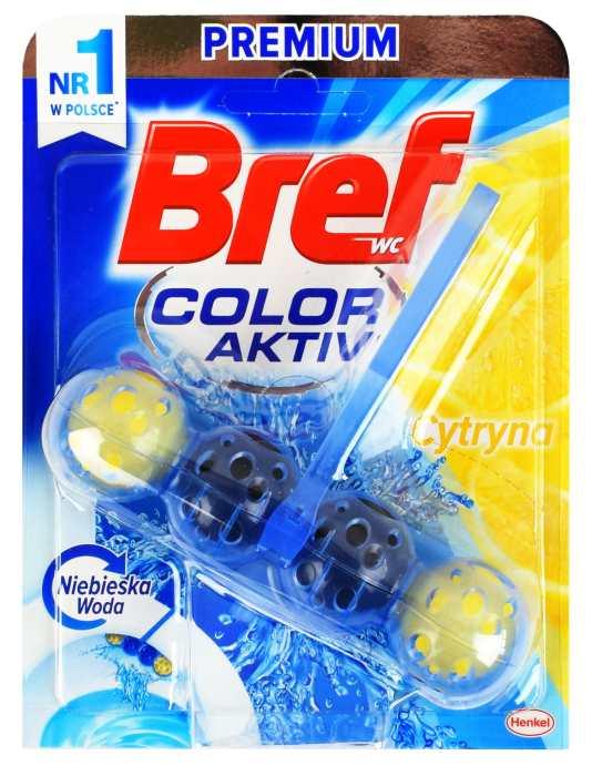 Kostka toaletowa bref color aktiv lemon