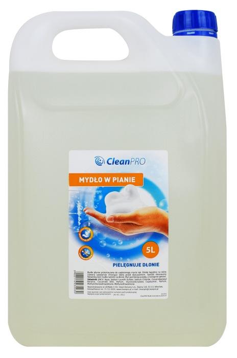 Bezbarwne mydło w pianie Clean Pro 5L