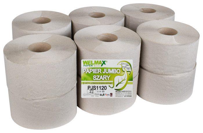 Papier toaletowy JUMBO szary 120mb