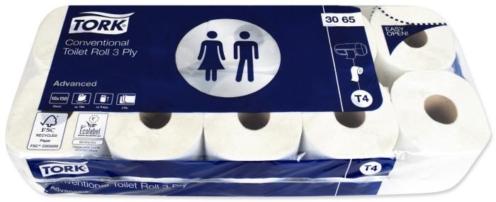3 warstwowy papier toaletowy TORK 3065