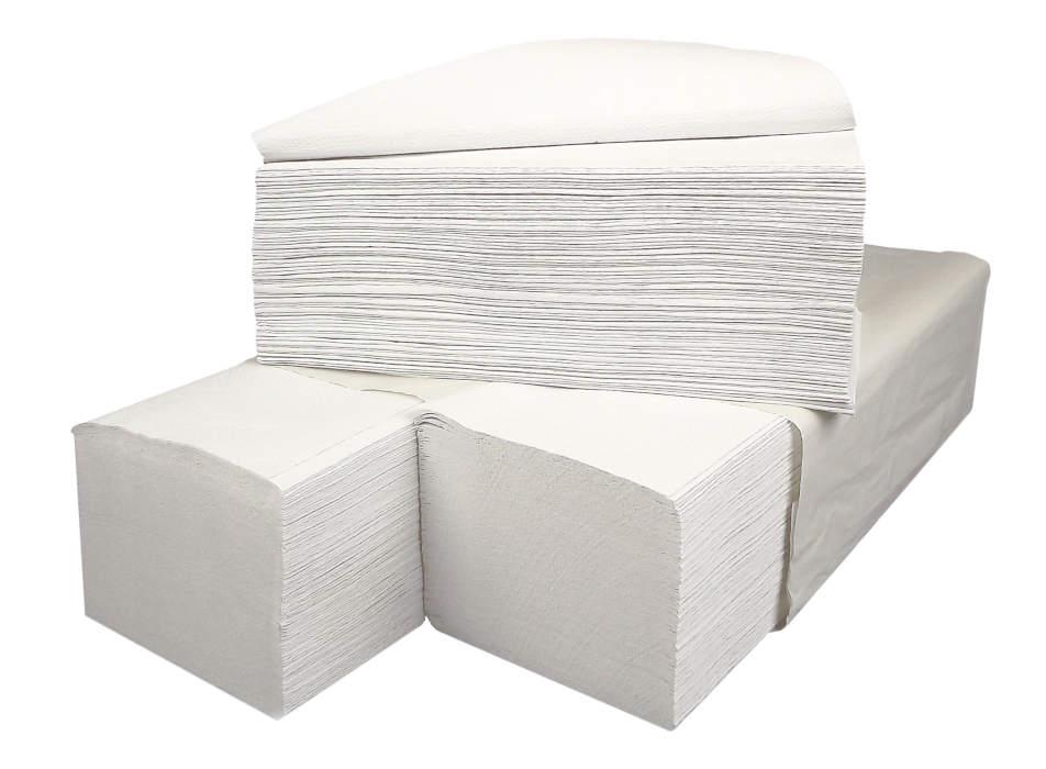 Ręcznik zz velis biały 4000szt