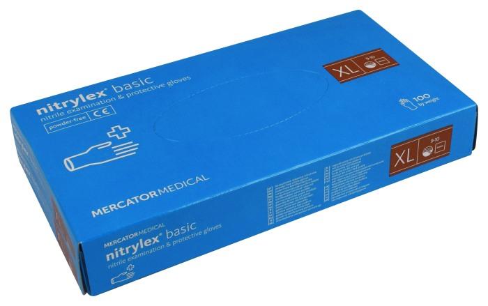 Rękawice Nitrylowe Niebieskie XL Mercator