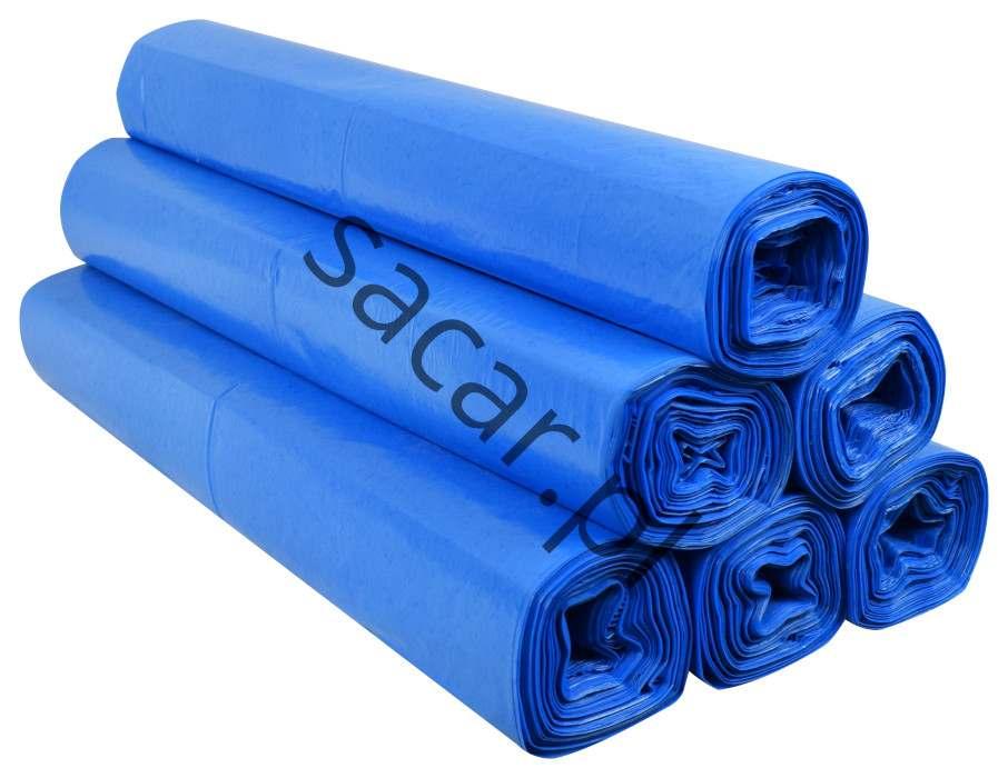 Worki na śmieci 160l niebieskie ldpe