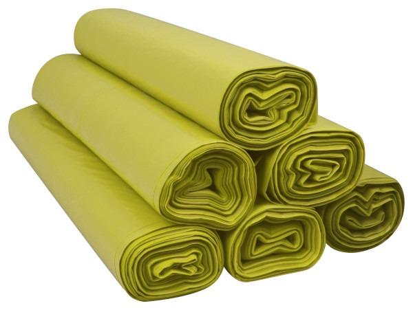 Worki na śmieci 120l ldpe żółte