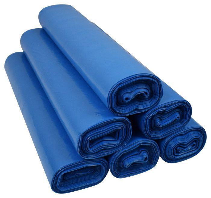 Worki na śmieci 120l LDPE niebieskie