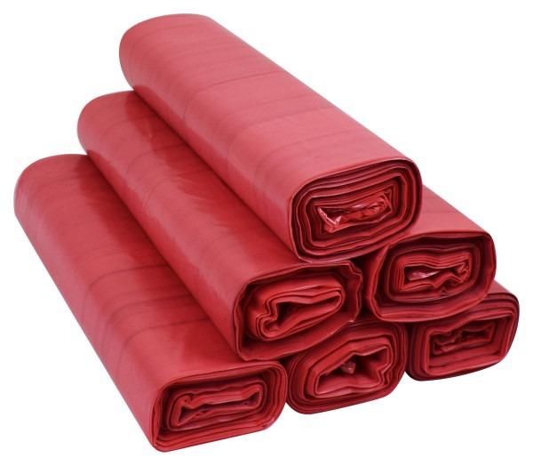 Worki na śmieci 35l LDPE 50szt czerwone