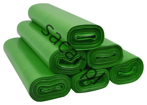 Worki na śmieci 35l ldpe zielone