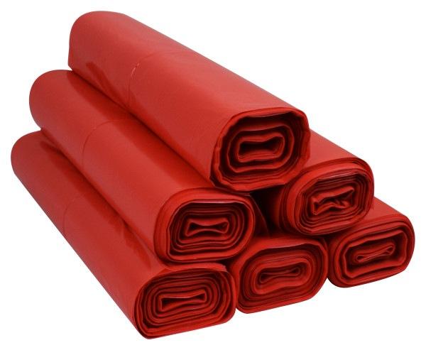 Worki na śmieci 60l ldpe czerwone