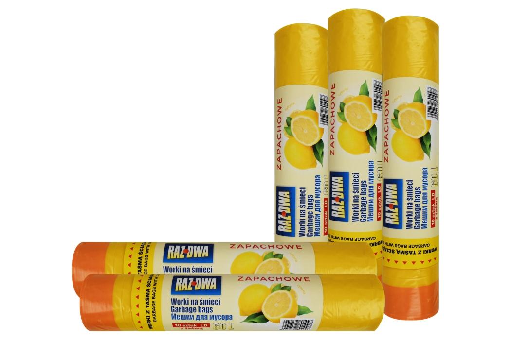 Zapachowe worki na śmieci LDPE 60L