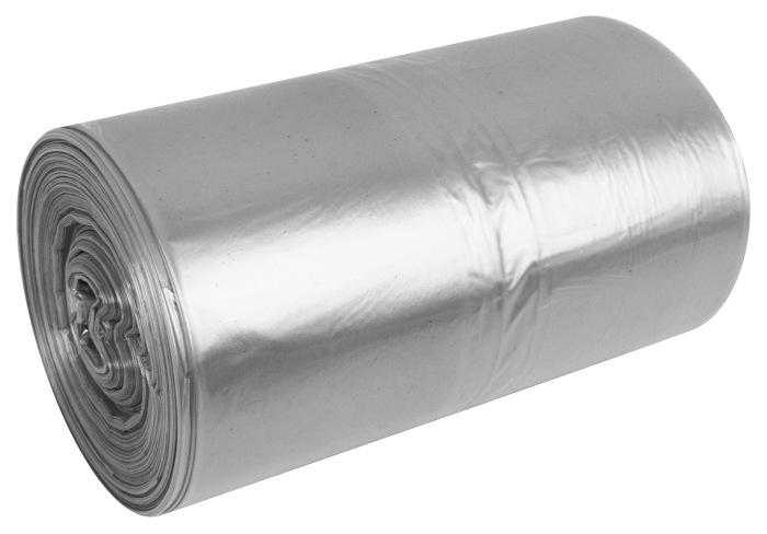 Transparentne przeźroczyste worki na śmieci Raz Dwa 60l 50szt LDPE